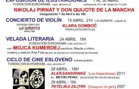 ABRIL, mes de la CULTURA ESLOVENA en Granada con exposiciones, cine, música y literatura.