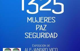 """Caddy Adzuba inaugura la exposición """"1325. Mujeres, Paz y Seguridad"""" de Alejandro Vico."""