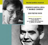 Recital poético-musical.  Lorca y Darwish, dos poetas vivos