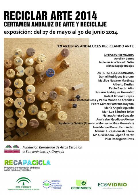 El 'Certamen de Arte y Reciclaje' presenta en la Euroárabe la exposición RECICLAR ARTE 2014 hasta el 30 de junio