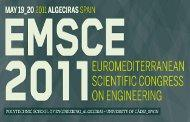 EuroMediterranean Scientific Congress on Engineering (EMSCE-2011)