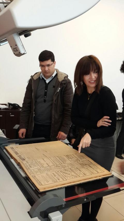 Inmaculada Marrero visita la BIBLIOTECA NACIONAL del Reino de Marruecos