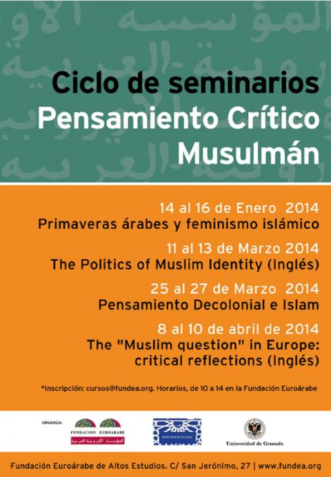 Nuevo curso del ciclo Pensamiento Crítico Musulmán: 'POLITICS OF MUSLIM IDENTITY'
